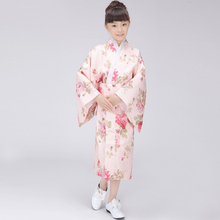 Classic Traditional Japanese Baby Girl Kimono Cute Kid Yukata Child Stage Dance Costumes Evening Dress Quimono One Size L3K03A