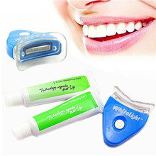 Hot Sale! Hot New White LED Light Teeth Whitening Tooth Gel Whitener Healthy Oral Dental Care Toothpaste Kit 302-0103