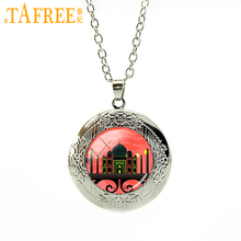 TAFREE Taj Mahal under the setting sun Necklace 2017 new locket selected as one of the Seven Wonders of the World jewelry H573(China)