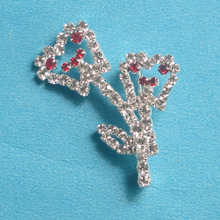 Dental clinic gift  Fashion imitation diamond brooch Badge Flower toothType