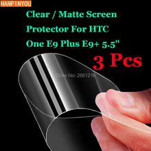 "3 Pcs/Lot New HD Clear / Anti-Glare Matte Front Screen Protector Touch Film Protection Skin For HTC One E9 Plus E9+ 5.5""(China)"