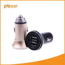 Pbear Car Charger Dual USB 5V/2.1A MAX Quick Charge Full Metal Compatible with Most Phones and Tablet PC
