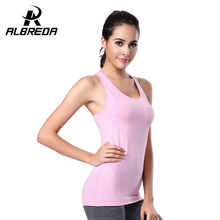 ALBREDA Quick Dry Sportswear Exercise T-shirts GYM Training Fitness Tops Tee Sports Running Yoga Clothing Clothes T Shirts Vest