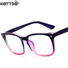 KOTTDO Fashion Retro Reading Eyeglasses Men Women Brand Designer Eye Glasses Spectacle Frame Optical Computer Eyewear Oculos