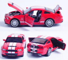1:32 Ford Mustang Diecast Alloy Metal Racing Vehicles Model Christmas Birthday Gift for Children Boy Collection Toy