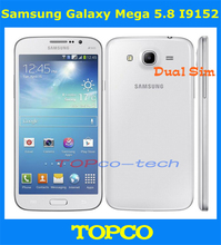 Samsung Galaxy Mega 5.8 I9152 Unlocked Dual-core Dual Sim 3G GSM Mobile Phone 5.8'' WIFI GPS 8MP 8GB smartphone Freeshipping