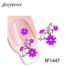 24 Designs 1 Piece Nail Art Sticker Cute Cat Flower Lace Tattoo DIY Fingernail Manicure Tips Water Transfer Nail Care Wedding XF(China)
