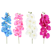 DIY Decorative Flower Artificial Butterfly Orchid Silk Flower Decorative Flowers  Home Living Room Wedding Decoration E5M1