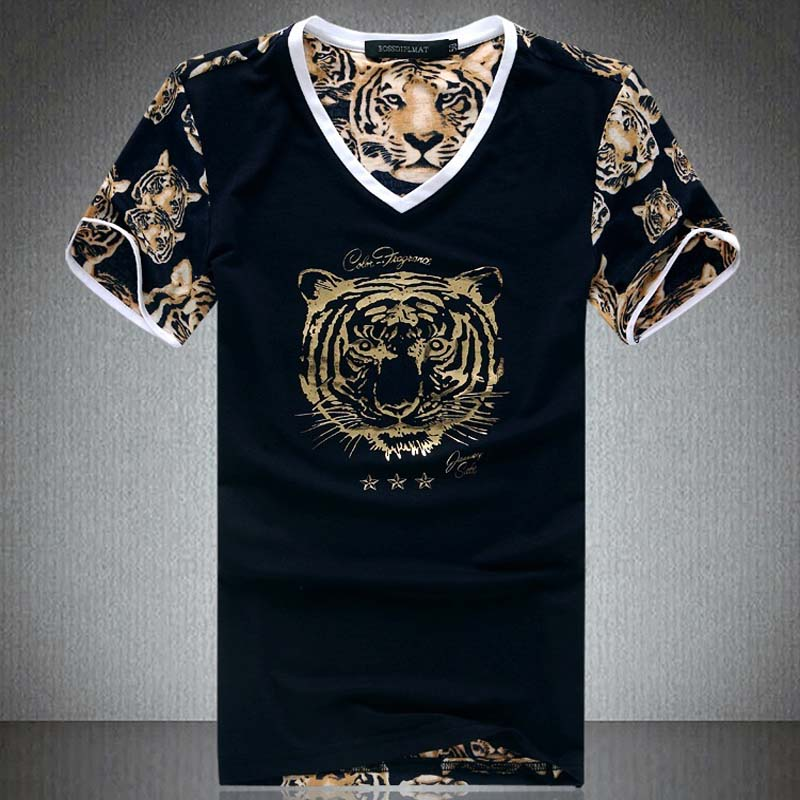 Small Size Tiger Print Mens Tshirt Mesh Tee Shirt Fashion 2017 Graphic Tees Summer Style Men T Black Brand Clothes In Shirts From S Clothing