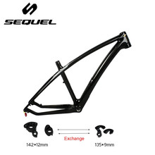 All black carbon mountian bike carbon fiber T1000 mtb frame 27.5er 135*9mm and 142*12mm exchange carbon bike frame very cheap(China)