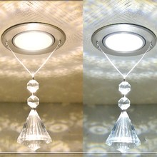 New K9 Crystal LED Ceiling Light Fixture Aisle Corridor Lights Restaurant  Bedroom Lighting Stainless steel spot lights