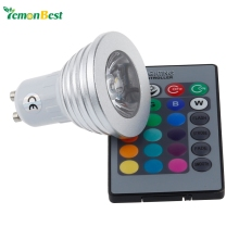 4W GU10 RGB LED Light Bulb 16 Color RGB Change 110V/220V with Remote for home party decoration atmosphere(China)
