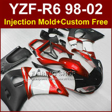 AOG5 Low price fairing parts for YAMAHA fairing kit YZF  R6 98-02 red custom fairing YZF R6 1998 1999 2000 2001 2002 OF73