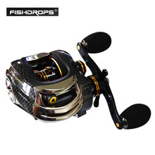 [SHISHAMO] Fishdrops LB200 Baitcasting Reel Fishing Reel GT 7.0:1 Left Right Hand Bait Casting Reels