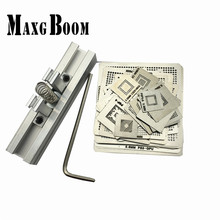 MaxgBoon 37pcs Heat Directly Rework Reball Stencils Template + BGA Reballing Kit Station For XBOX360 PS3 Game Repair