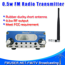 Free shipping FU-05B FM transmitter 0.5W FM radio broadcast Stereo Output 87-108mhz low power fm transmitter antenna kit(China)