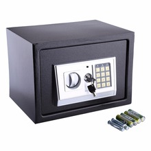 Security Lock Box Money Coins Jewelry Key Cash Storage Cabinet Metal Safe 4 Size