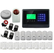 Wireless Home Household Office Security Alarm System GSM Dialer Infrared Motion Detector Door Window Sensor with Remote Control