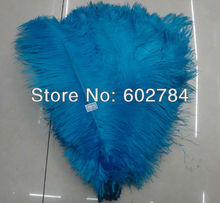 Free Shipping 100pcs/lot Light blue ostrich drab feather ostrich plumes 16-18inch 40-45cm for wedding centerpieces