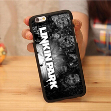 linkin park popular band logo Soft Rubber Mobile Phone Cases For iPhone 6 6S Plus 7 7 Plus 5 5S 5C SE 4 4S Cover