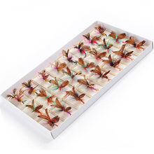 Fiblink 48pcs Fly Fishing Flies Set Butterfly Like Dry Flies Fishing Lure for Bass Salmon Trout(China)