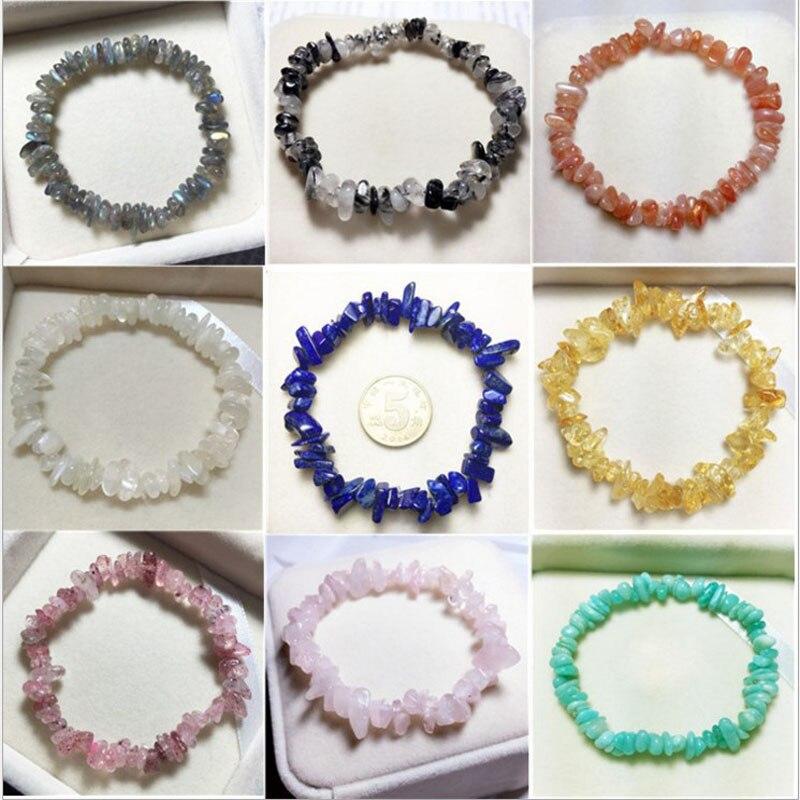 Natural quartz crystals tumbled stones Wealthy healing stones bracelet make of tumbled stones (3)