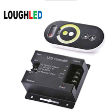 Wireless RF full touch color temperature LED controller DC12V~24V with color ring remote 144W(China)