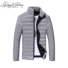 DAVYDAISY Men Winter Jacket And Coat Padded Thicken Parkas Jackets Men Fashion Stand Collar Warm Overcoat Campera Hombre DCT-087(China)