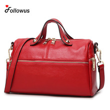 New Women Fashion Messenger Boston Tote Vintage Bag 2017 Fashion PU Leather Handbags 4 Colors OL Business Shoulder Bag