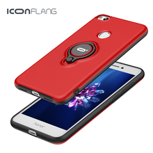 Iconflang Ring Cases for Huawei Honor 8 Lite Case cover Luxury Skin Kickstand Ring Holder Shell for Honor 8 Lite free shipping