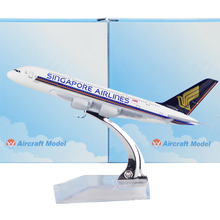 Singapore airline Arbus 380 16cm model airplane kits child Birthday gift plane models toys  Christmas gift