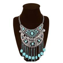 Collie Femme Vintage Boho Coin Statement Necklace Pearl Crystal Tassels Necklace Italy Baroque Jewelry