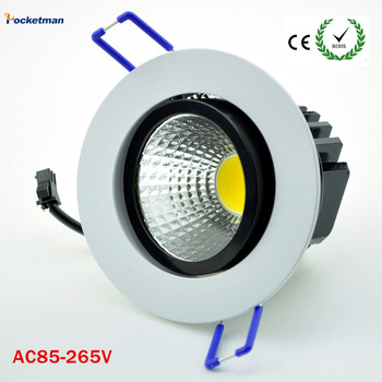 Dimmable Recessed led downlight cob 5W 7W 9W 12W dimming LED Spot light led ceiling lamp AC 110V 220V free shipping