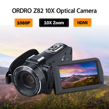 ORDRO HDV-Z82 3.0 Inch TFT LCD Touch Screen 1080P HD Optical Zoom Camera Hot Shoe 24MP 10X Optical Zoom Camera