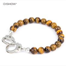 Buy 1 get 1 Tiger eye Stone bracelet couple jewelry Handcuffs bracelet mens bracelets pulsera hombre charm bracelet men pulseras