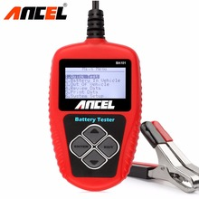 ANCEL BA101 Car Battery Analyzer Tester 12V 2000CCA 220AH Detect Bad Cell Battery Test Diagnostic Tool Multi language(China)