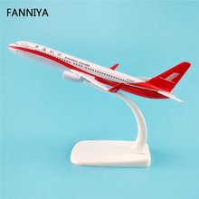 16cm Alloy Metal Air China ShangHai Airlines Airplane Model Boeing 737 B737 800 Airway Plane Model W Stand Gift(China)