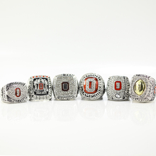 2002/2008/2009/2014/2014/2015 Ohio State Buckeyes Big Ten Football Replica Championship Ring Size 11(China)
