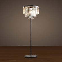 Modern Crystal Floor Lamp LED E27 Home Luminaire Fashional study room light Creative Vintage Coffee Shop hotel floor light(China)