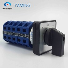 Yaming electric YMW26-25/5 Panel Mount 25A 5 poles 3 position control motor circuit Universal changeover rotary cam switch