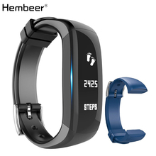 Hembeer H6 Smart Band Vibrating Alarm Clock Bracelet Calorie Counting Wristband Bluetooth Fitness Tracker for xiaomi iPhone(China)