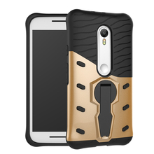 360 Full Shock Proof with stand Phone Case For Moto G3 shell Back Cover For Motorola Moto G 3rd gen/Moto G Gen 3/Moto G3