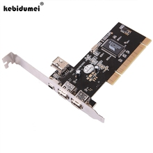 kebidumei 10pcs Newest 4 Ports Firewire IEEE 1394 4/6 Pin PCI Controller Card Adapter for HDD MP3 PDA(China)