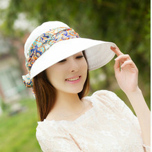 SexeMara 2017 Summer Sun Hat Female Sunscreen Biking Outdoor Folding Beach Sun Hat Female Printting Hats SCA21128(China)