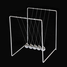 Square Stainless Steel Retro Metal Ball Decoration Metal Stents Newton Pendulum Balls For Desk Ornaments Bumper Ball Office Toys(China)
