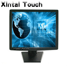 USB Panel Wholesale Black 17 inch LCD TFT Touch Screen Monitor Desktop Monitor Full Function Touch Panel for PC(China)