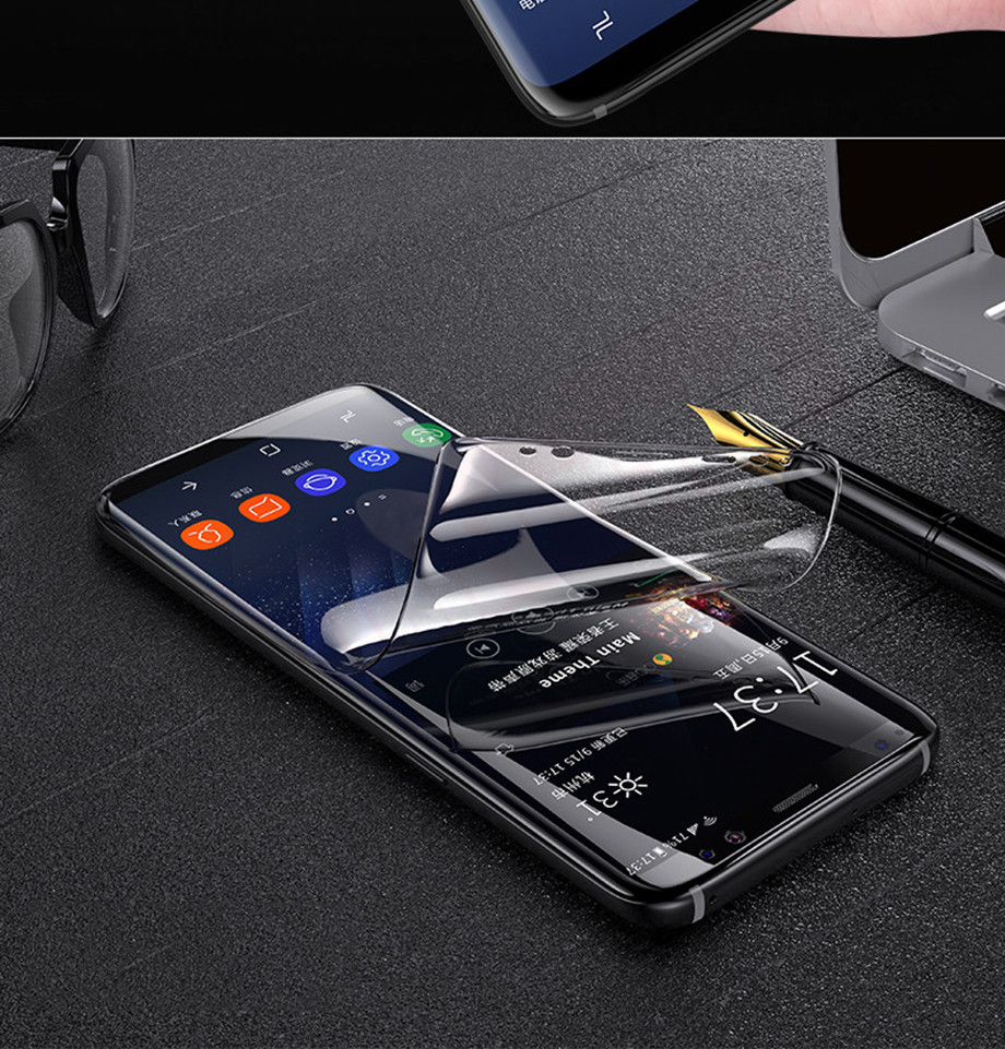 8-PC-For Samsung Galaxy S8 Screen Protective Edge Film For Samsung S9 Plus  Screen Protector