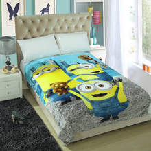 2017 NEW Fashion Cartoon Blanket on the bed Sofa Travel Soft Bedspread Bedding Quilt Sheet
