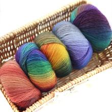 50g/pcs Rainbow Wool Cotton Yarn Bamboo Protein Line Baby Fabric For Sewing For Hand Knitting Wool Yarn Sweater Scarf