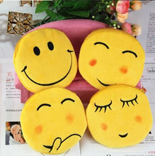 VILEAD 4 Styles Plush Wallet Cute Emoji Face Pocket Smiley Money Bag QQ Expression Key Bag Coin Purse Portable Storage Bag